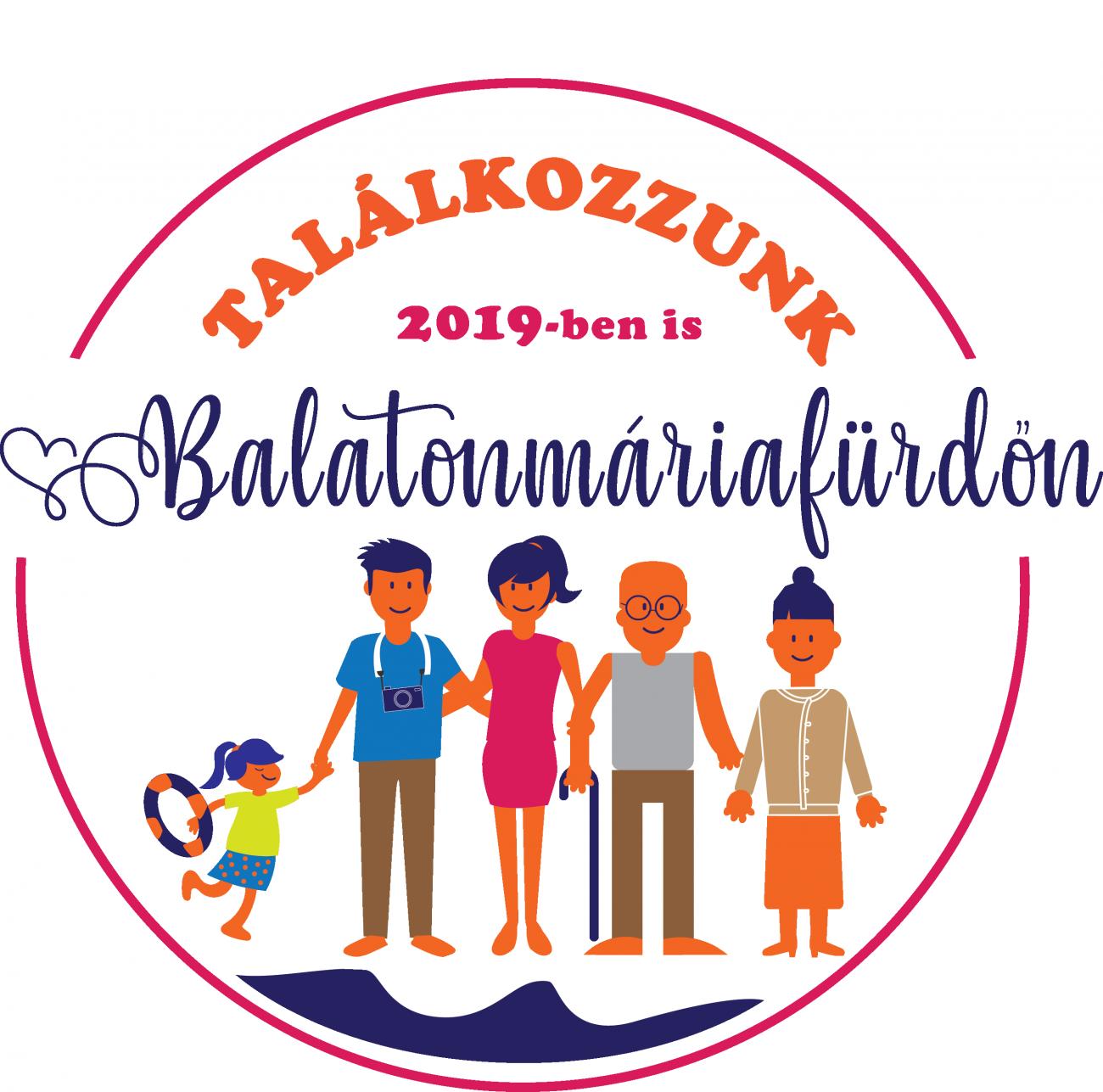 Balatonmáriafürdő 2019 nyári logó tervezés